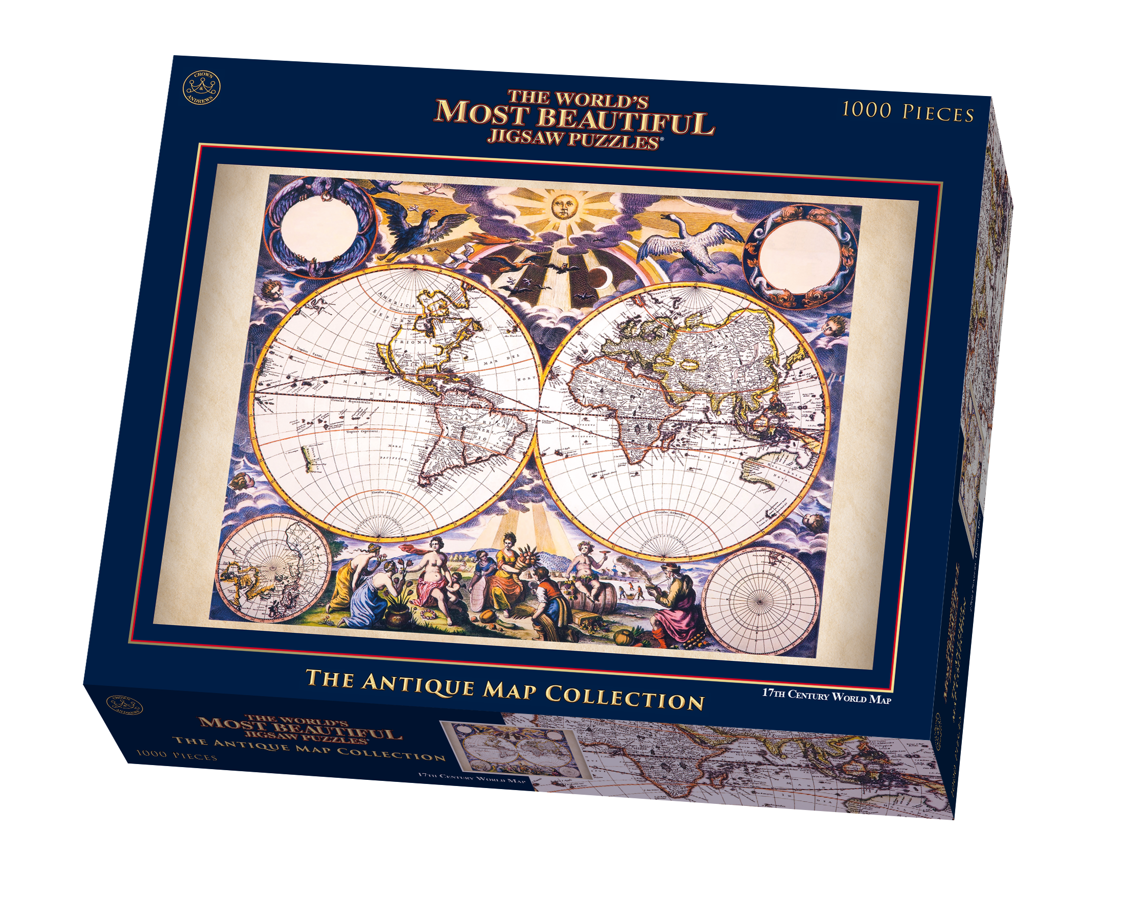 The worlds most beautiful 17th century double hemisphere world map the worlds most beautiful 17th century double hemisphere world map by pieter goos jigsaw puzzle goliath games goliath games gumiabroncs Choice Image
