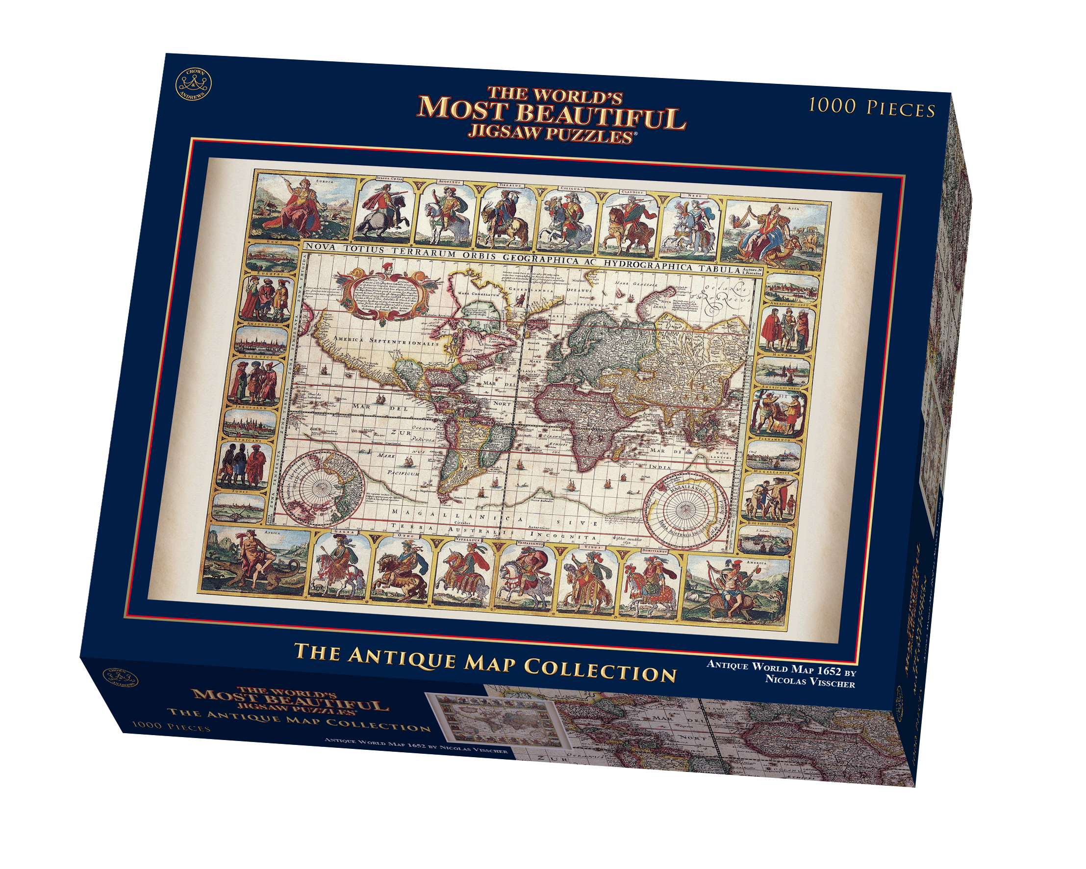 The worlds most beautiful antique world map by nicolas vischer the worlds most beautiful antique world map by nicolas vischer jigsaw puzzle goliath games goliath games gumiabroncs Gallery