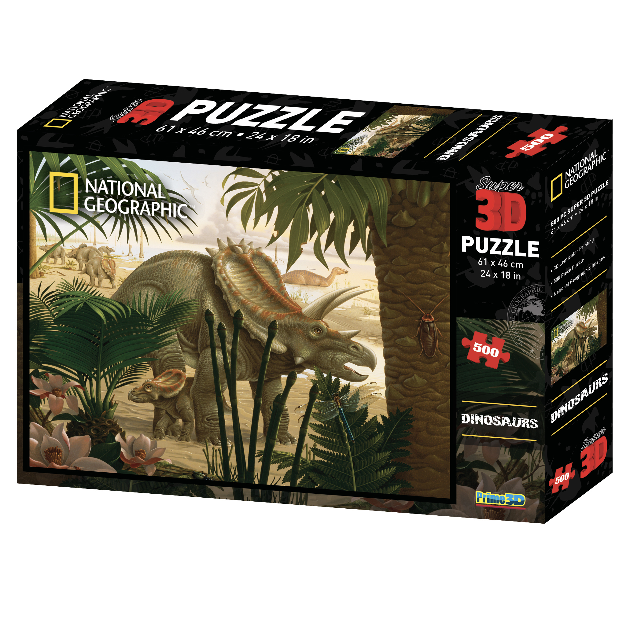 Super 3D National Geographic Stenonychosaurus 500pc Puzzle