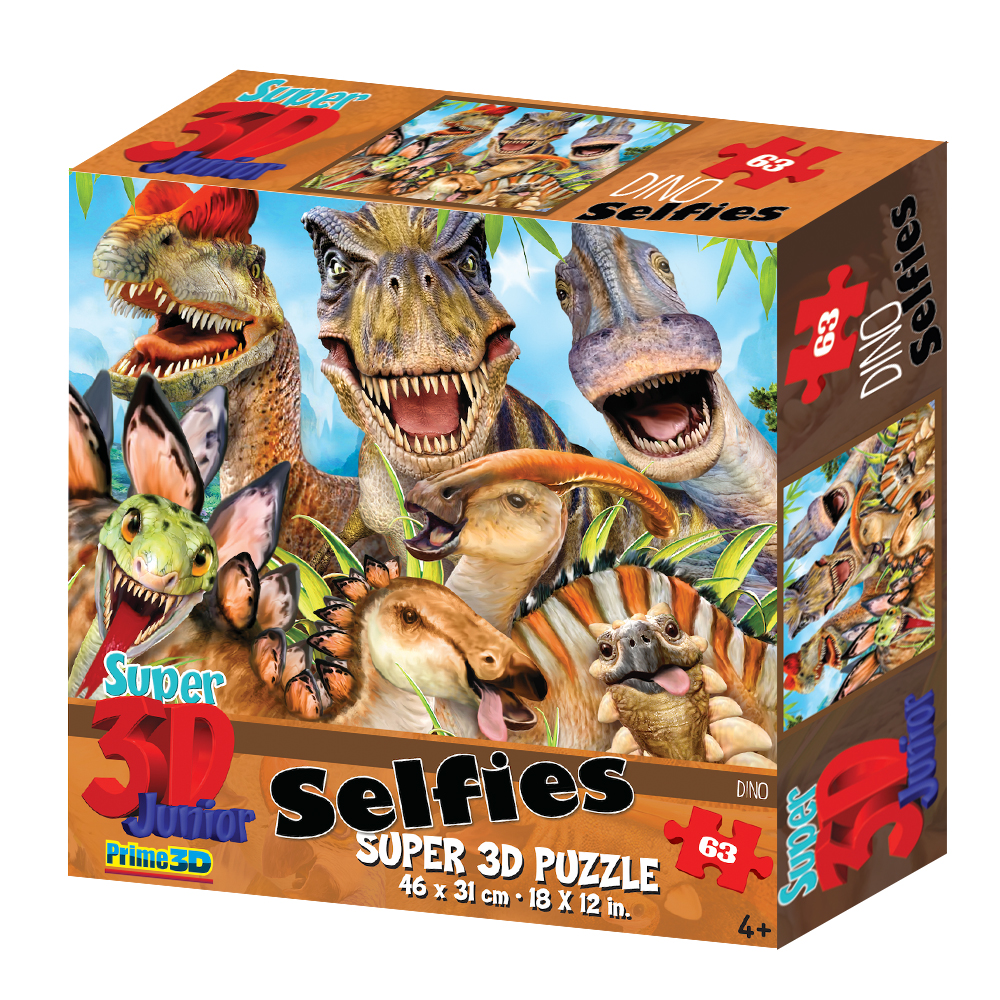 Super 3D Howard Robinson Dino Selfie 63pc Childrens Puzzle