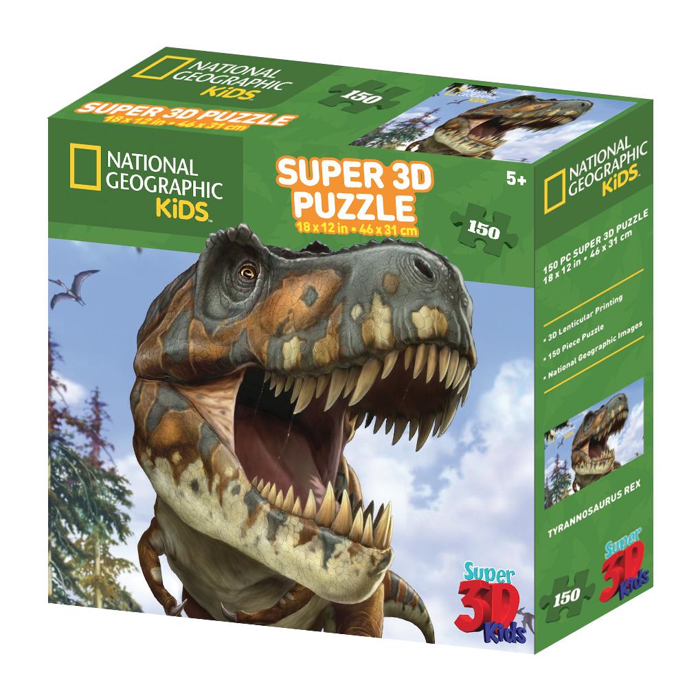 Super 3D National Geographic Tyrannosaurus Rex 150pc